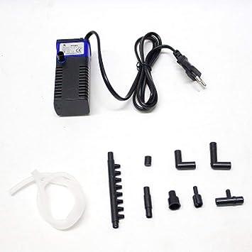 Monllack Mini multifunción 3 en 1 Acuario de oxigenación Interna Aumentador Filtro 4W pecera Bomba Sumergible
