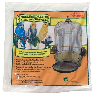 Living World Gravel Paper for Birds (8 Pack) [Set of 2]