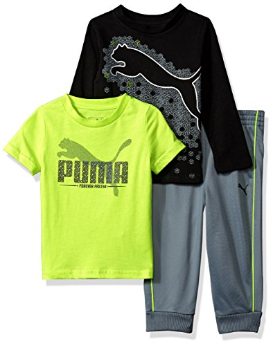 0fc6e7073a1f Galleon - PUMA Baby Boys Three Piece T-Shirt And Pant Set