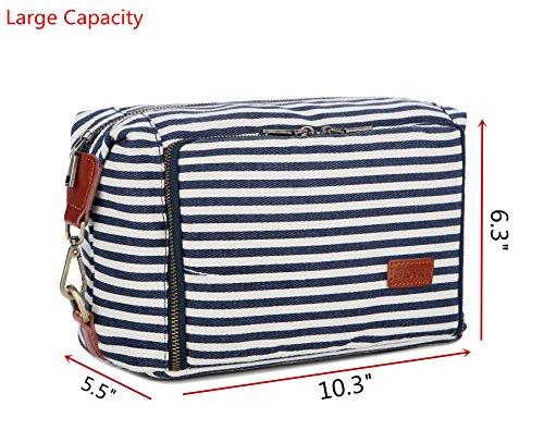 BAOSHA XS-04 Canvas Travel Toiletry Bag Shaving Dopp Case Kit for Women and ladies (Blue) by BAOSHA (Image #1)