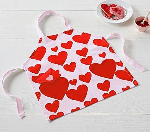Love Potato Tablier de Cuisine en Toile avec Poches Adult Women Motif c/œurs et c/œurs Rouge Red