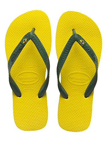 Havaianas Brazil Flip Flop Sandals, Citrus Yellow, 43/44 BR(11-12 M US ()