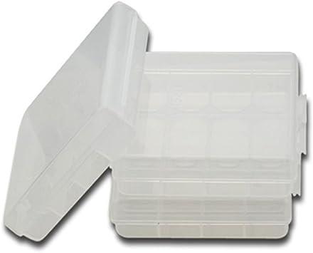 UxradG - Caja de plástico transparente con 4 pilas AA/AAA para proteger y transportar cajas de baterías duras: Amazon.es: Bricolaje y herramientas