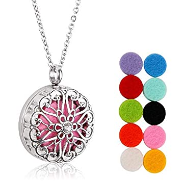 Amazoncom Maromalife Essential Oil Diffuser Necklace Stainless