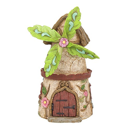 NW Wholesaler Fairy Garden Supply - Fairy House - Windmill Cottage (Working Door)
