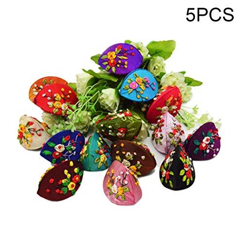 Chinese Brocade Jewelry Box - Raylans Chinese Silk Brocade Jewelry Case Coin Purse Set Gift Random Set of 5