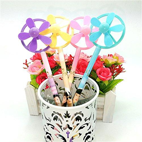 GH8 windmill shape Kawaii Cute Random Color Shipping Ball point Pens For Kids 4pcs/set