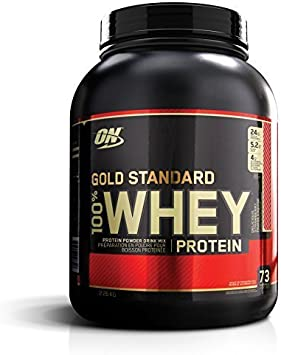 Optimum Nutrition 100% Whey Gold Standard, Delicious Strawberry, 5-Pound by Optimum Nutrition