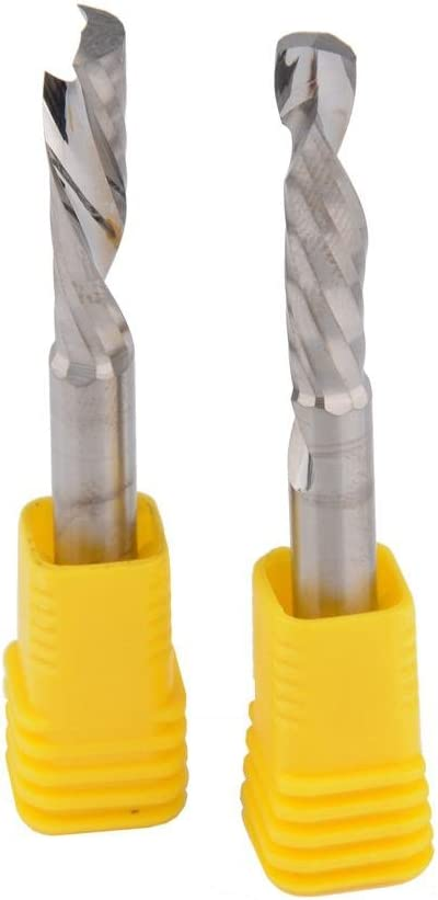 EU/_HOZLY 6x25mm Up/&Down Cut One Single Spiral Flute Carbide CNC End Mill Pack Of 2