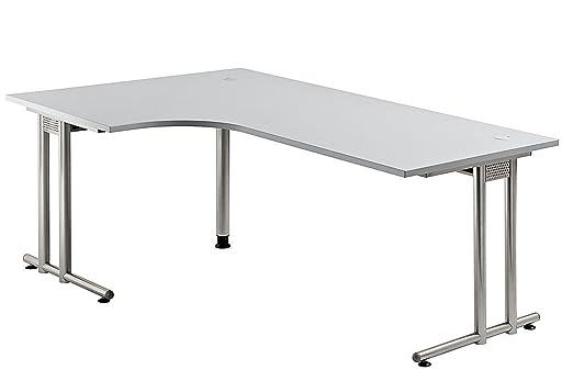 Amstyle mesa de escritorio Serie N 200 cm elección de cromo/madera ...