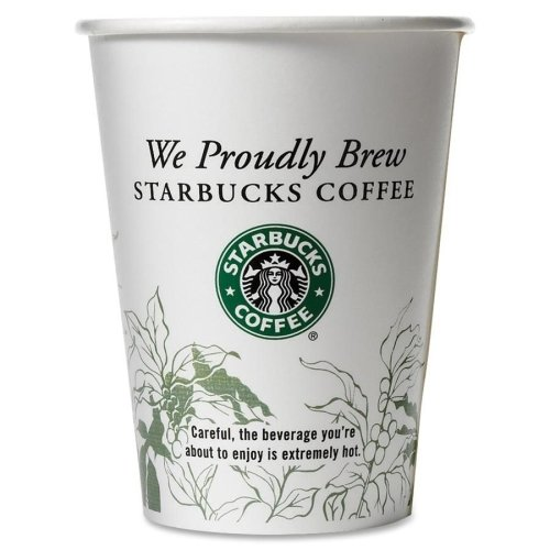 Starbucks SBK11032976 Hot Cold Cups, Compostable, We Proudly Serve PLA Lined, 12 oz (Pack of 50)