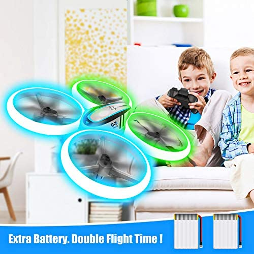 Q9s Drones for Kids,RC Drone with Altitude Hold and Headless Mode,Quadcopter with Blue&Green Light,Propeller Full Protect,2 Batteries and Remote Control,Easy to Fly Kids Gifts Toys for Boys and Girls 51BbUkvvDTL