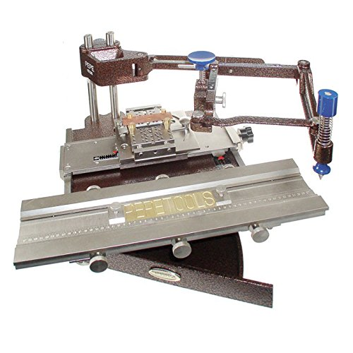 Pepe deluxe flat engraving machine with set of single line for Engraving machine letter sets