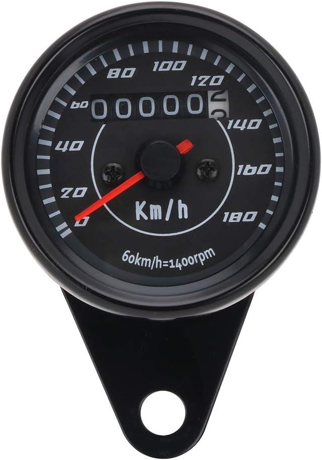 Color Negro Kawasaki Suzuki Veloc/ímetro Universal para Motocicleta K.T.M ATV de 0 a 180 km//h Yamaha para Honda