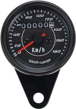 tachimetro con retroilluminazione LED 160 km//h doppio segnale. Contachilometri universale per moto indicatore di velocit/à