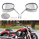 Best View Mirrors For Honda Motorcycles - Motorcycle Rearview Wing Mirrors for Honda Suzuki Chopper Review