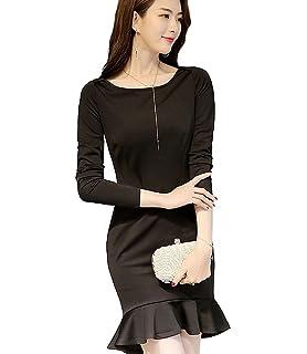 8797186ef59ea BolanVerl ブラックフォーマル ワンピース Vネック ブラック 黒 フリル 裾切り替え 卒園式 ドレス 発表
