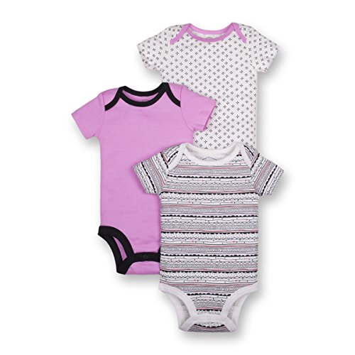Lamaze Baby Girls Organic 3 Pack Shortsleeve Bodysuits