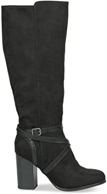 Bottines Noir MyB Femme Chaussea: : Chaussures et Sacs