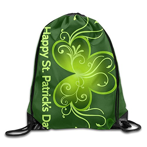 Novelty Happy St. Patrick's Day Drawstring Bag For Traveling Or Shopping Casual Daypacks School Bags Backpack Gym
