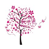 Best Wall Stickers For Bedroom Sofas - ElecMotive Huge Size Cartoon Heart Tree Butterfly Wall Review