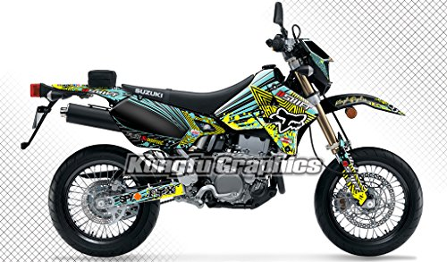 Kungfu Graphics Custom Decal Kit for Suzuki DRZ400 SM DRZ400S DRZ400SM DR-Z 400 DRZ 400 1999 up to 2018, Yellow Black Green - Custom Graphic Decal