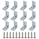 25 bracket - Mellewell 12 PCS 90 Degree Corner Braces, 25 x 25 mm Corner Steel Joint Right Angle Brackets Fastener with Screws, CB8025B-12