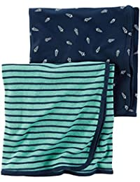 Carter's Baby Boys' 2 Pack Swaddle Blankets