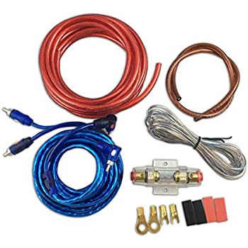 amazon com muzata 10 gauge amplifier installation kit with rca rh amazon com car amp wiring kit amazon car amp wiring kit ks-dr3001d