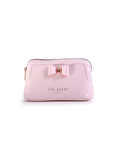 5963ca2758d326 Ted Baker Julis Dusky Pink Make Up Bag with Bow  Amazon.co.uk  Luggage