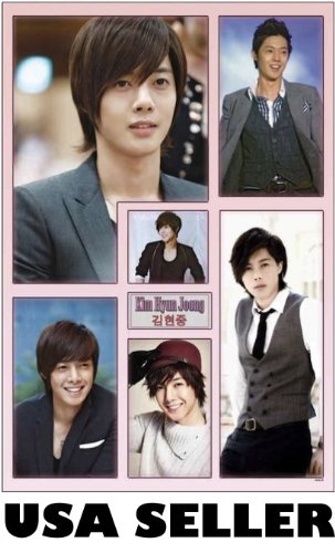 Kim Hyun Joong of vert collage Poster Korean teen idol Jung sent from USA