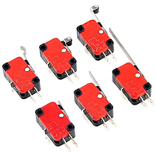 - Swpeet 24Pcs Micro Limit Switch Assorment Kit, Long Hinge Roller Momentary Cherry Push Button SPDT Snap Action Perfect for Arduino, Appliance and Electronic Equipment - V-151/152/153/154/155/156-1C25