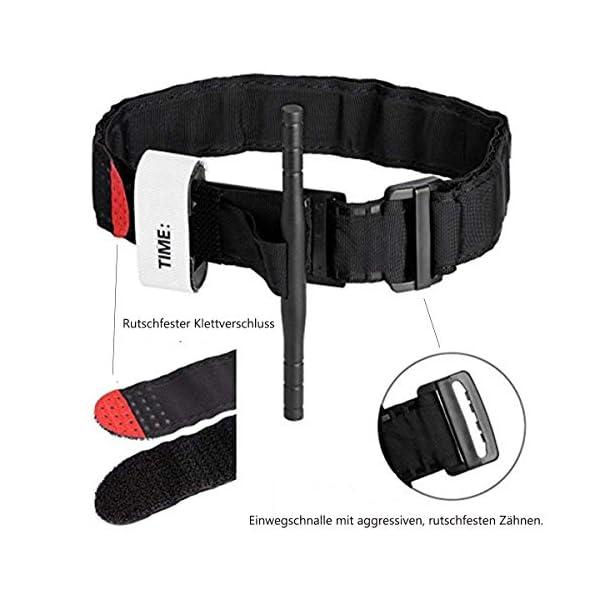 BEIAOSU Torniquete 2PCS Cinturón de Primeros Auxilios Torniquetes Tactico para el Control de la Pérdida de Sangre Senderismo para Exteriores 3