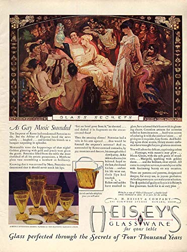 As Gay Music Sounded - Heisey's Glassware ad 1929 by Tenggren WHC