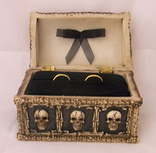 Wedding Ceremony Gothic Wicca Coffin Tombstone ring bearer pillow Box