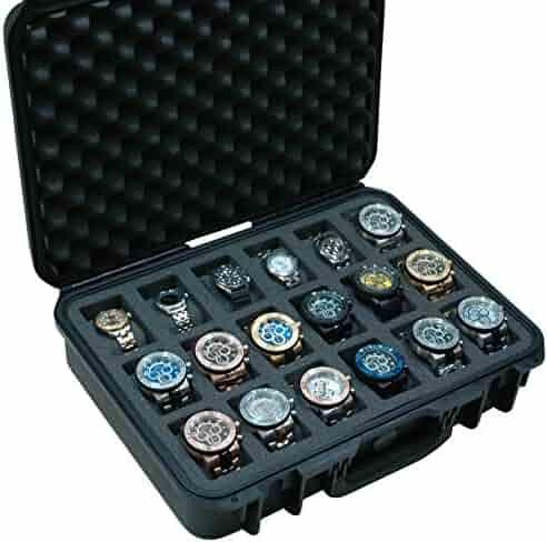 Case Club Waterproof 18 Watch Travel Case