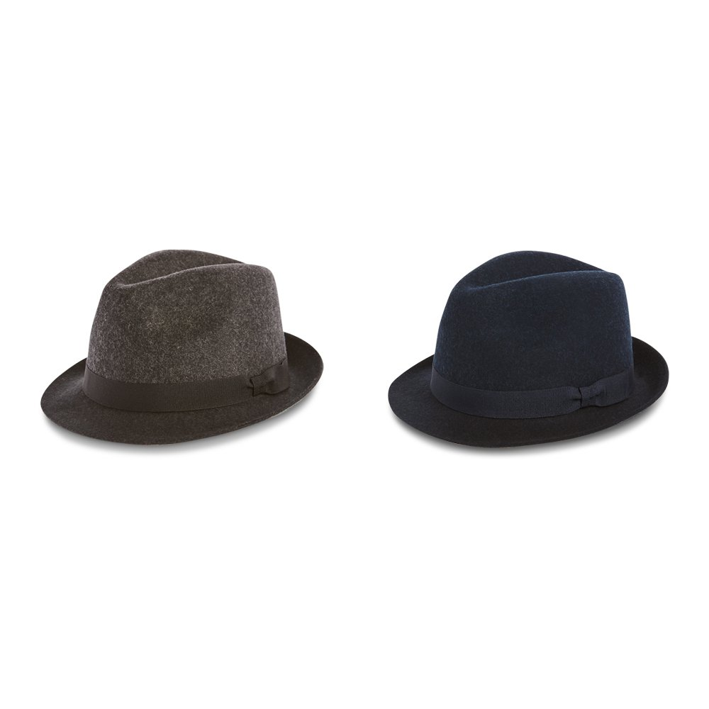 05ae2328c6a8d Marks   Spencer M S Collection 100% Pure Wool Felt Trilby Hat   Amazon.co.uk  Clothing
