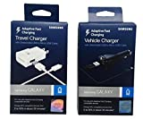1&1 OEM Samsung Adaptive Fast Charging USB Car Charger & Travel Charger - (Retail Packing) AFC Technology