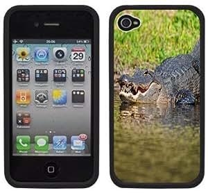 Alligator Handmade iPhone 4 4S Black Hard Plastic Case
