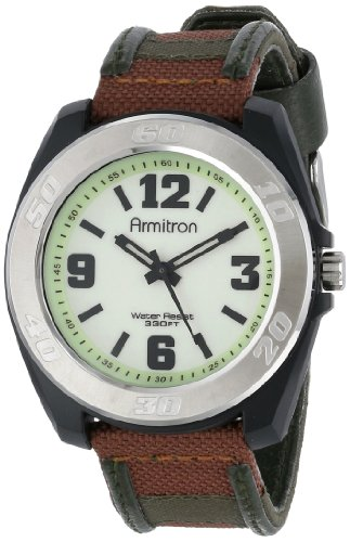 Armitron Men's 204549WLBKGN Silver-Tone Stainless-Steel Brown Sport Watch