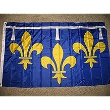 3x5 Orleans Orleanais fleur de lis France French Super-Poly Flag 3'x5'