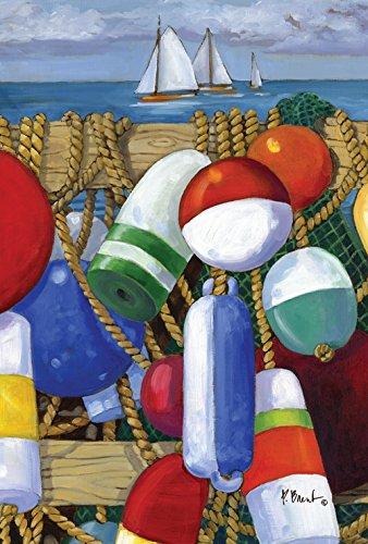 Toland Home Garden  Floats And Boats 12 5 X 18 Inch Decorative Usa Produced Garden Flag