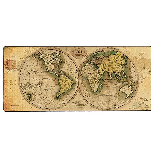 "Cmhoo The Holic Vintage Flag Gaming Mouse Pad Large with an Optimized Textured Surface/Non-slip Rubber Base Extended Mouse Mat|27.5"" x 11.8"" x 0.1"" (Ball(70300.3cm))"