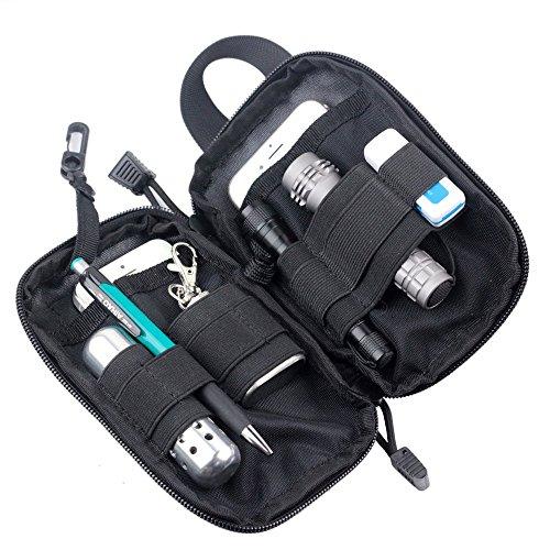 - Molle Tactical Medical First Aid EDC Pouch Pocket Organizer Bag EMT W/Belt Loop (Black)