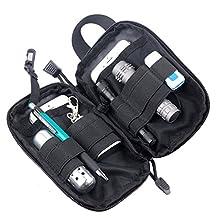 Molle Tactical Medical First Aid EDC Pouch Pocket Organizer Bag EMT W/Belt Loop