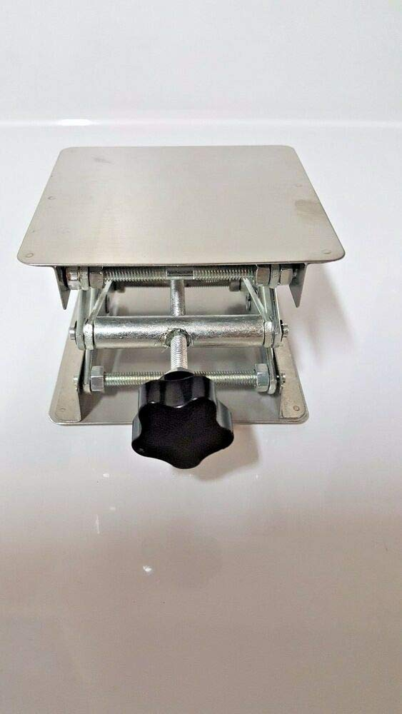 Scissor Stand lifting table new lab Stainless Steel Lab Jack 4''(10cm)x4''(10cm)