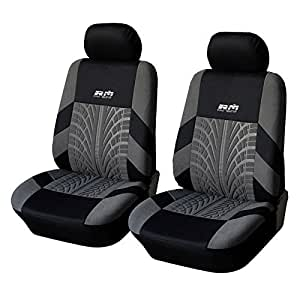 autoyouth tire track detail front bucket car seat covers car interior accessories universal fit. Black Bedroom Furniture Sets. Home Design Ideas