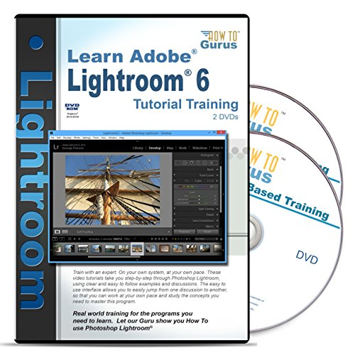 Adobe Photoshop Lightroom 6 Training on 2 DVDs 10 Hours in 223 Video Lessons Computer Software Video Tutorials by How To Gurus