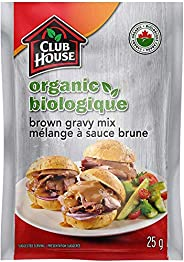 Club House, Organic Gravy Mix, Turkey, 25g, Case Pack 18 Count - Packaging May Vary