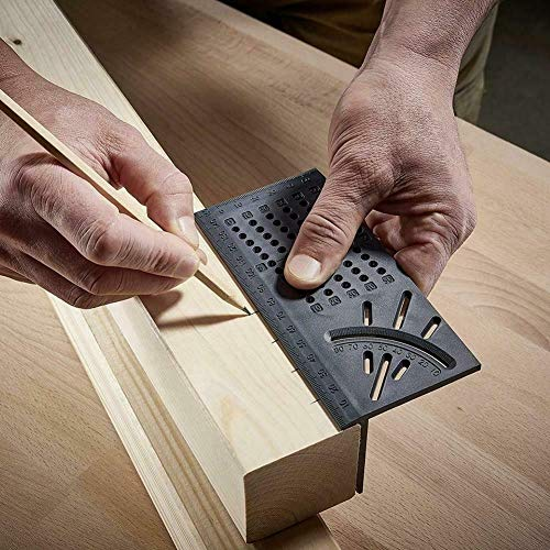 - Measuring Ruler, LtrottedJ 150x275x66cm Woodworking 3D Mitre Angle Measuring Square Size Measure Tool 45 Degree And 90 Degree Angle With Gauge & Ruler